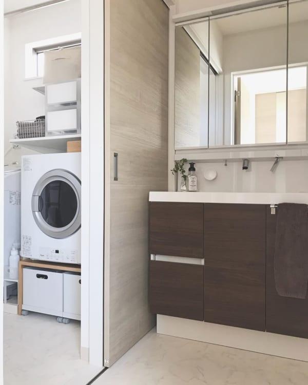 暮らしやすい住まいの工夫:洗面所・脱衣所2