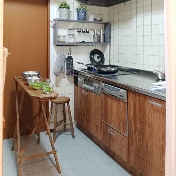 キッチン×グリーンで爽やかに