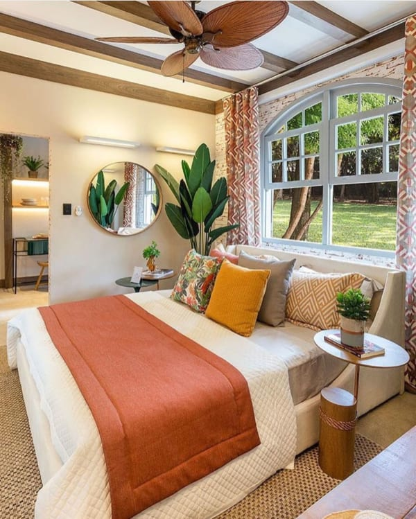 リゾートスタイルの寝室