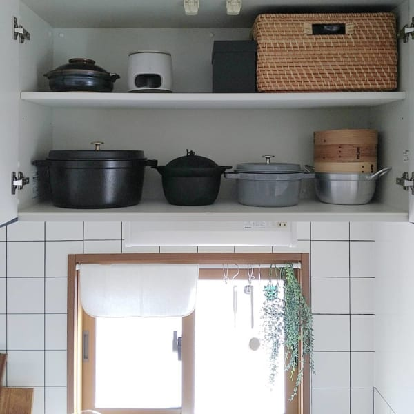 キッチンの窓辺にグリーンをプラス