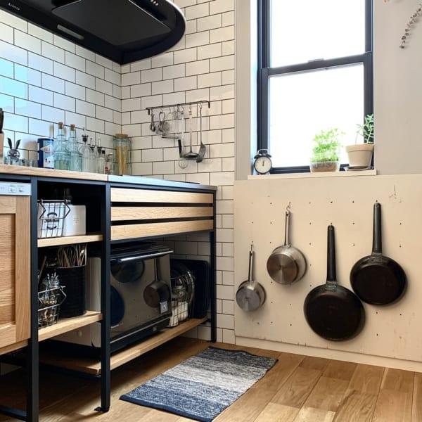 キッチンの見せる収納アイデア《調理器具》3