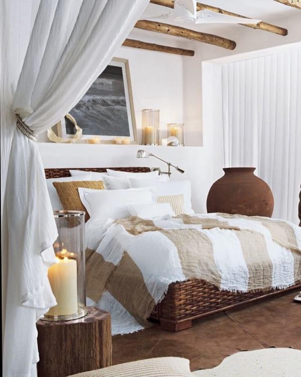 自然体でナチュラルな寝室