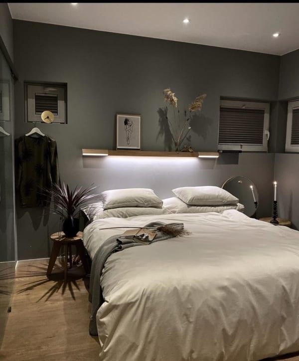 洗練されたかっこいい寝室
