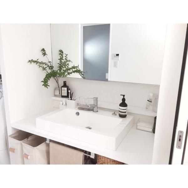 ホテルライクな洗面所インテリア