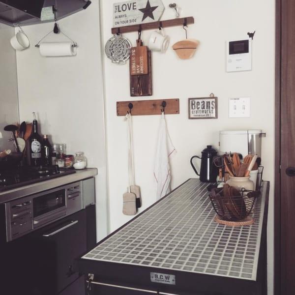 使い勝手抜群のカフェ風キッチンカウンター
