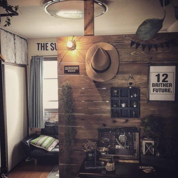 カフェ風一人暮らしインテリア《DIYアイデア》11