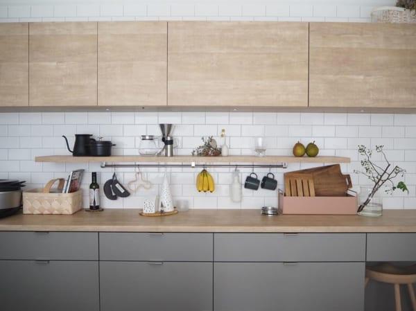 キッチン背面を活用する