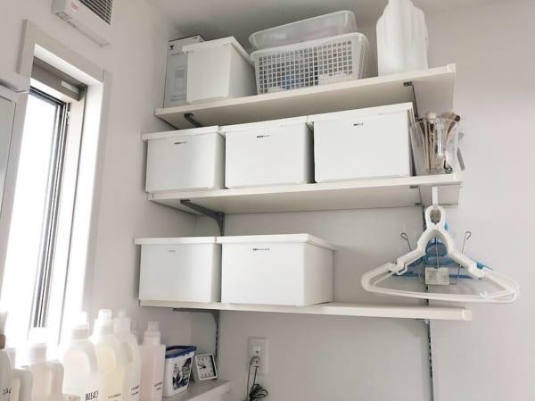 洗濯機上のスペース 収納3