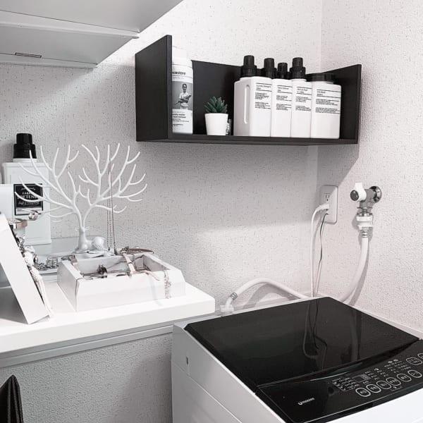 洗濯機上のスペース 収納4