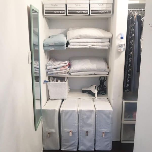 シーズンオフの寝具類を保管収納③