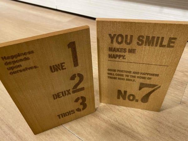 カジュアルな木製ブックエンド