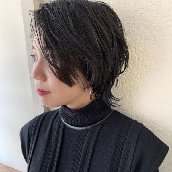 大人っぽさNO.1黒髪×ショート