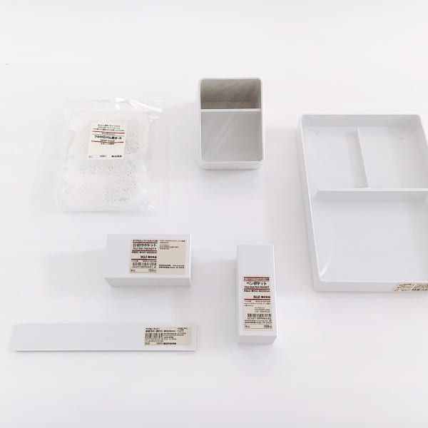 PPファイルボックス用ポケットで文房具収納