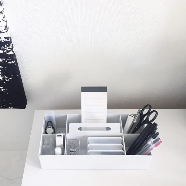 PPキャリーボックスで文房具収納