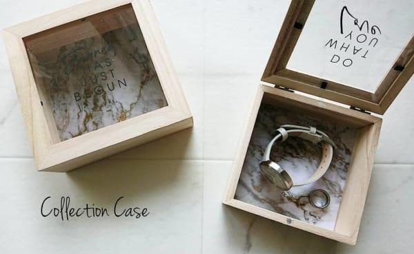 上品な雰囲気の木製コレクションケース