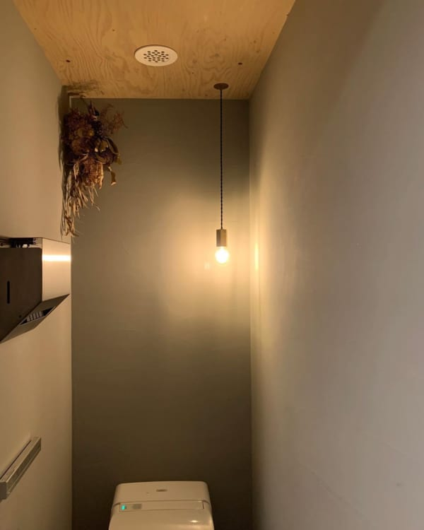照明にこだわったトイレ