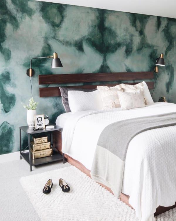 個性あふれる寝室