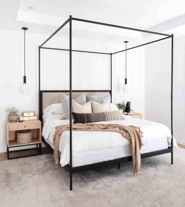 北欧スタイルの寝室