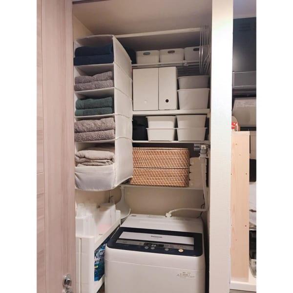 洗濯機周りの収納力を大幅アップ
