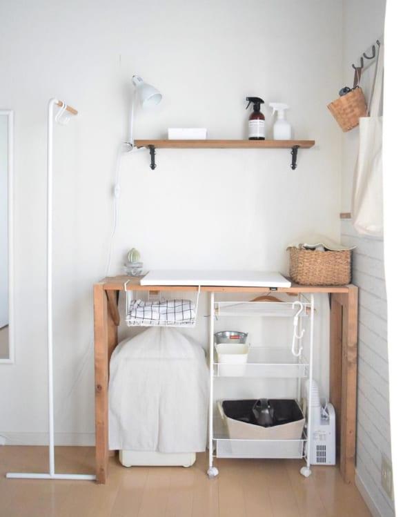 寝室のおしゃれな家事スペース