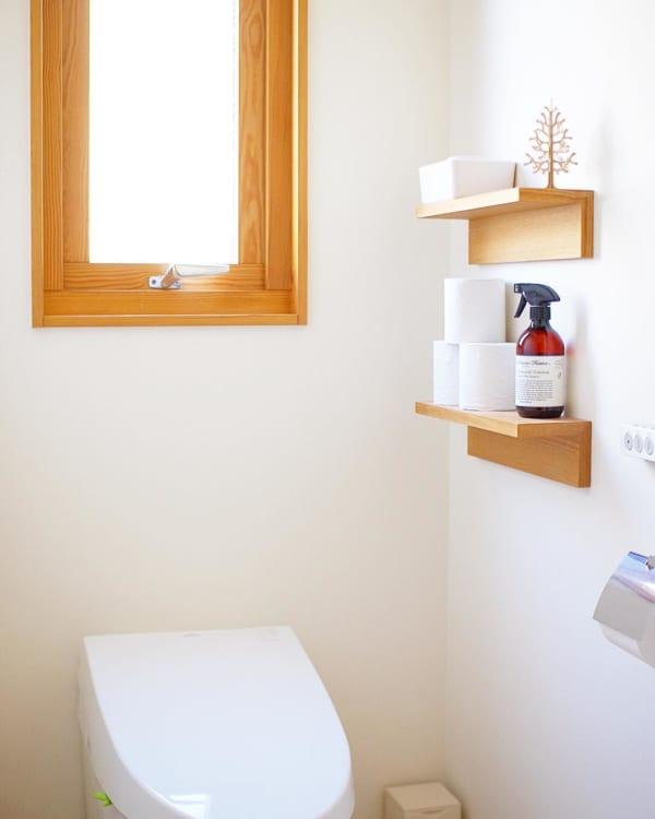 無印良品のL字棚を取り付けた簡単壁面収納