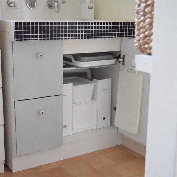 見た目にも美しい洗面台下収納