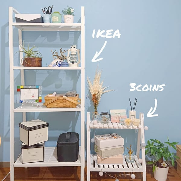 IKEAを使ったおしゃれなリビング収納5