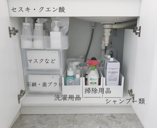 洗面台下の収納に活用
