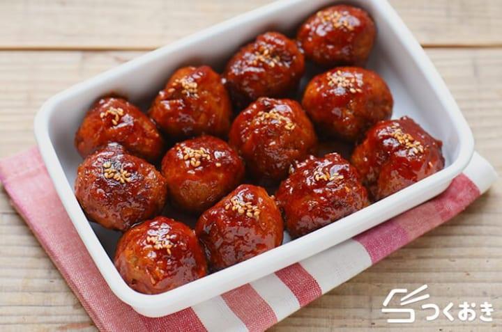 発酵食品で健康レシピ!肉団子の簡単甘酢あん