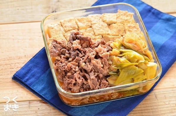 人気の簡単なレシピに!美味しい肉豆腐