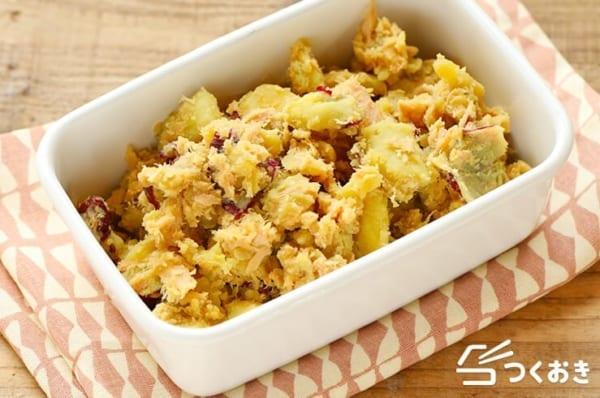 炊き込みご飯の副菜に!サツマイモのツナ和え