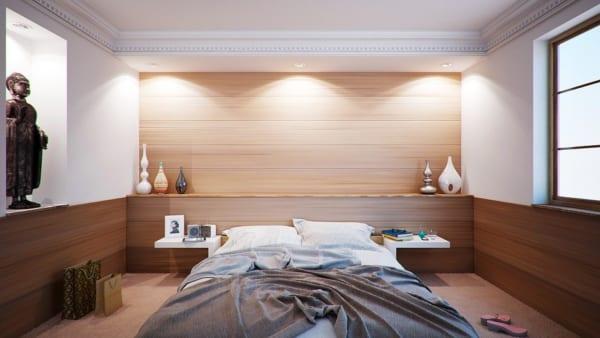 海外のベッドルームインテリア《ホテル風》8