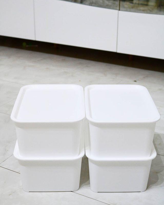 道具の整理に役立つ蓋付きボックス