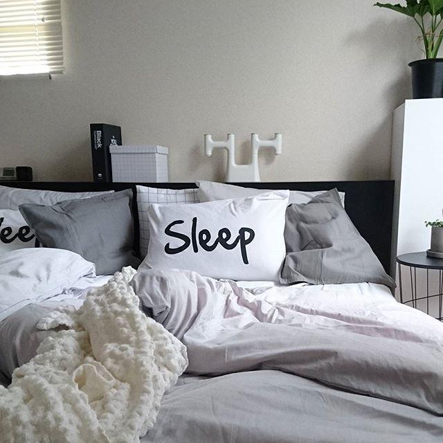 シンプルでかわいい枕カバーとクッションカバー