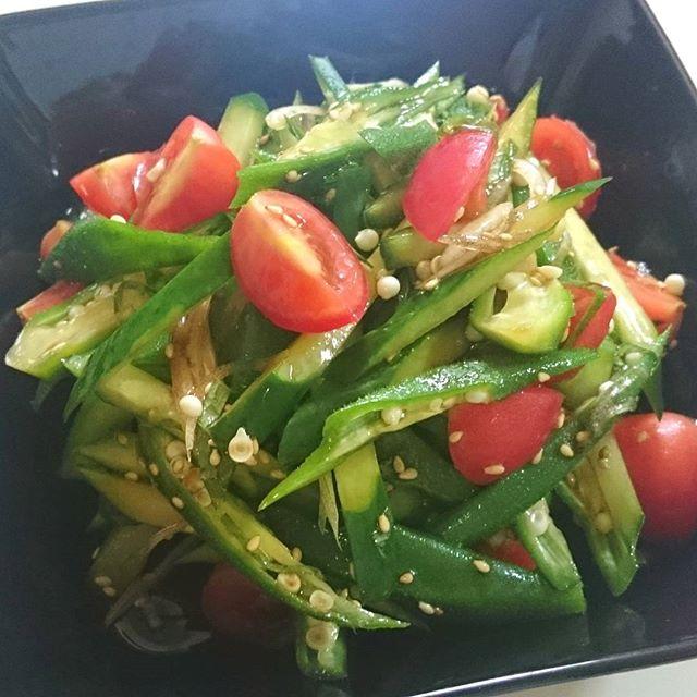 人気のおつまみに!オクラと夏野菜のナムル