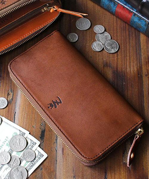 リアルレザーの大人っぽい長財布
