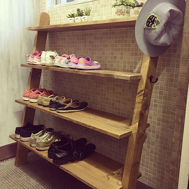 靴のおしゃれな収納DIY7