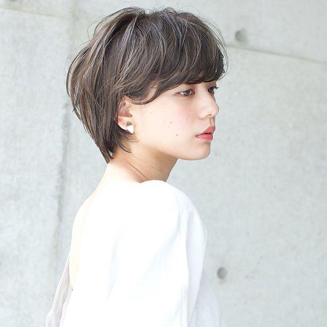 40代におすすめの前髪ありショート×パーマ4