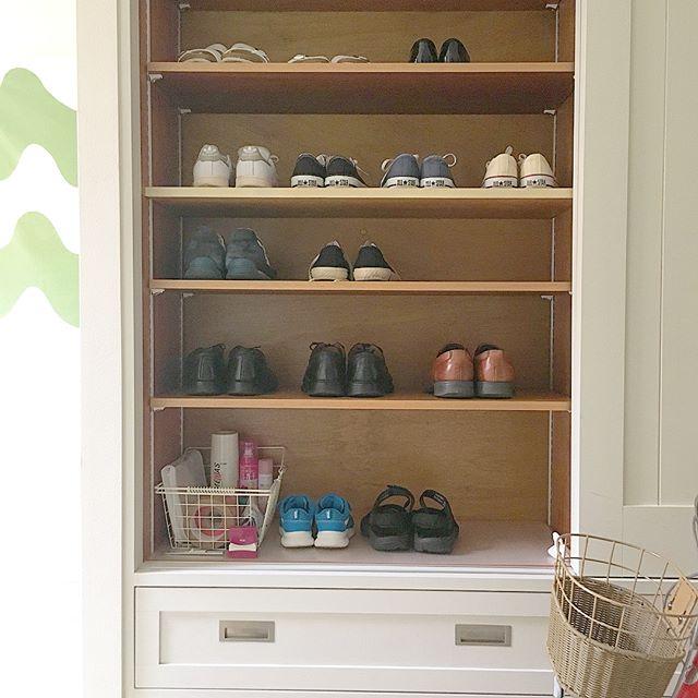靴のおしゃれな収納DIY14