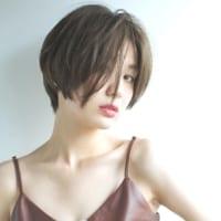 面長はショートヘアで決める!モテ女子がオーダーする前髪なし小顔スタイル♡