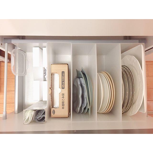 狭い部屋の収納アイデア《食器》5