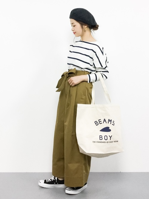 [BEAMS WOMEN] 【WEB限定】BEAMS BOY / BB ロゴ TOTE BAG (L)