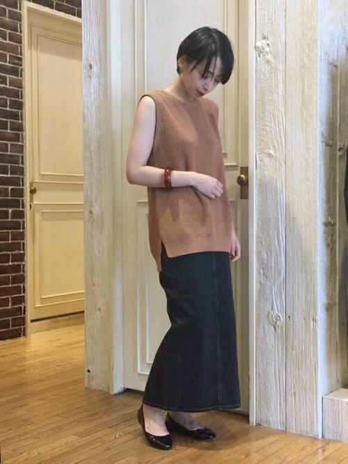 [apart by lowrys] デニムロングタイトスカート 798770
