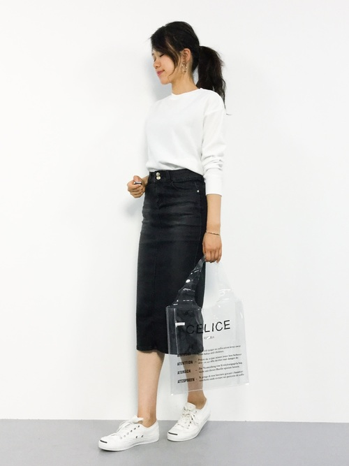 [Futierland&SASA] バックスリットロングデニムスカート