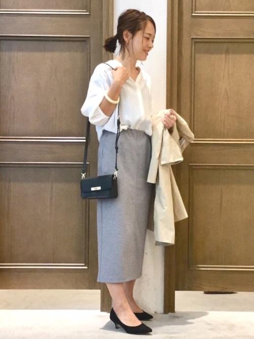 [GLOBAL WORK] サマーカットタイトスカート【吸水速乾】/831131