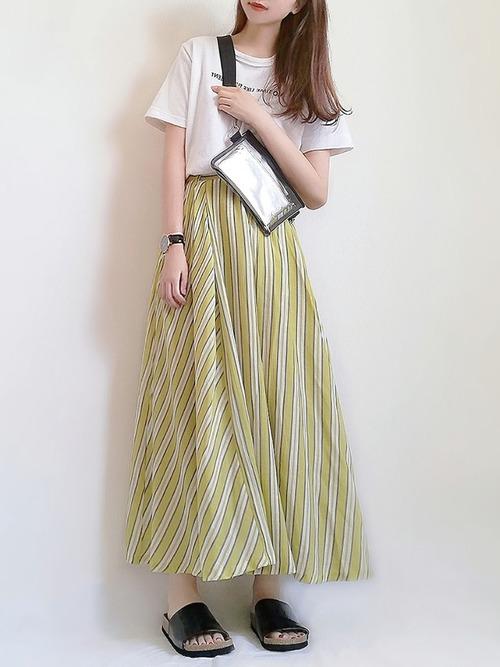 しまむらスカートの夏コーデ