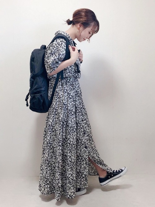 [MILKFED.] 【定番】EMBROIDERY BIG BACKPACK BAR