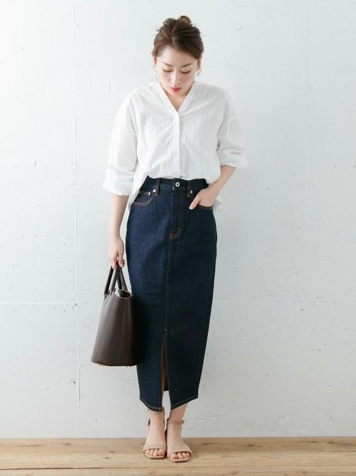 [URBAN RESEARCH] ロングタイトデニムスカート
