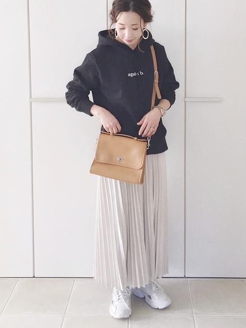 [Auntie Rosa] 【Holiday】スウェードプリーツスカート◆WEB限定◆