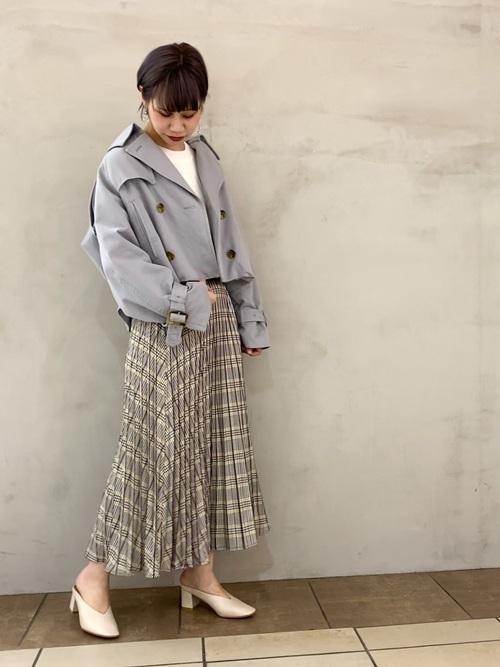 [YECCA VECCA] 【2020春夏】チェック柄ラインプリーツスカート*